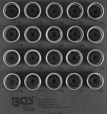 Bgs Technic Rim Lock dop Set voor Opel, Vauxhall (Version A) | 20 delig