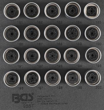 Bgs Technic Rim Lock dop Set voor Opel, Vauxhall (Version B) | 20 delig