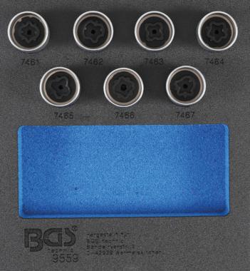 Bgs Technic Velgenslot demontageset voor Opel, Vauxhall (type D) 7-dlg
