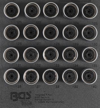 Rim Lock doppan Set voor Opel, Vauxhall (Version C) 20 delig