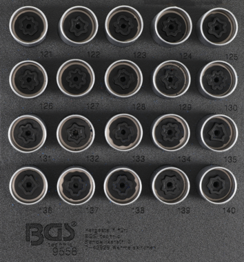 Bgs Technic Rim Lock doppan Set voor Opel, Vauxhall (Version C) 20 delig