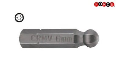 Inbus bolkop bit 1/4 -25mmL 6mm