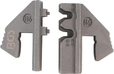 Bgs Technic Crimping Jaws voor Waterproof Terminal Parts (H6)