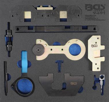 Bgs Technic Gereedschapmodule 2/3: motorafstelset voor BMW M40, M44, M50, M52, M54, M56