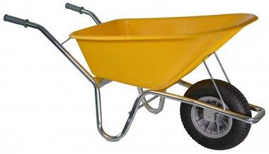 Bouwkruiwagen Basic PE 100 L geel DOOS