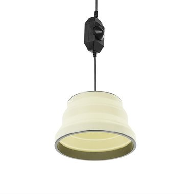 Hanglamp LED opvouwbaar silicone wit 20cm