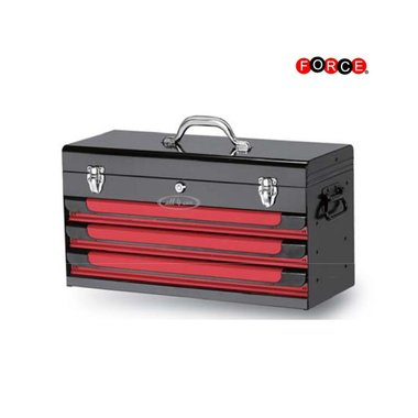Glory red & black 3-drawer top chest (glossy paint)