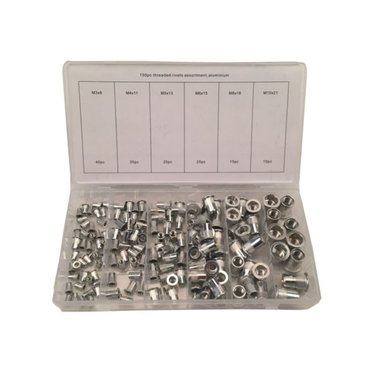 Blindklinkmoeren assortiment Aluminium 150 delig