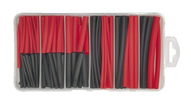 Krimpkous zwart/rood