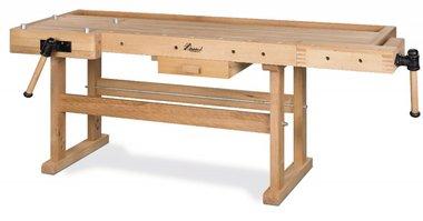 Zware houten werkbank - 2100x700 mm