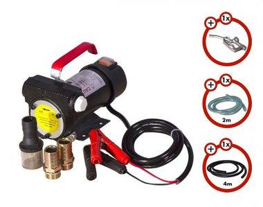 Dieselpomp 24 v  + pistool + dieselslang + 2x koppeling