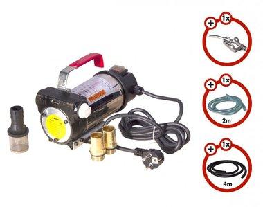 Dieselpomp 230V + pistool + dieselslang + 2x koppeling
