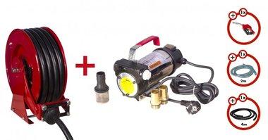 Dieselpomp 230 V + oprolhapsel + pompenset