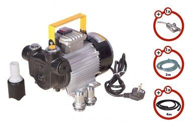 Dieselpomp 230V + pistool + dieselslang + koppeling