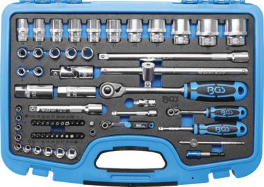 Bgs Technic Dopsleutelset zeskant 6,3 mm (1/4) / 12,5 mm (1/2) 66-dlg