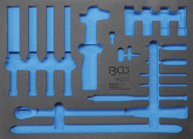Bgs Technic Gereedschapmodule 3/3 leeg voor BGS 4035