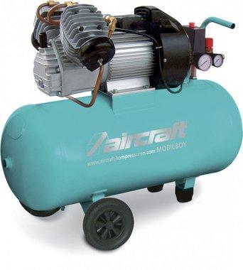 Mobiele compressor 2 cil. Hos 10 bar, 50 liter