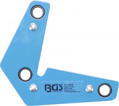 Bgs Technic Magnetische lasklem L-vorm 9 kg
