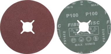 Bgs Technic Fiber-schuurschijfset | korrel 100 | aluminiumoxide | 10-dlg