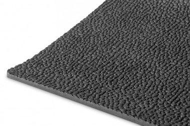 Rubber per lopende meter 1mx1200mmx3mm rijstkorrel zwart