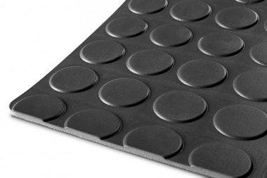 Rubber op rol 10mx1200mmx3mm nop zwart