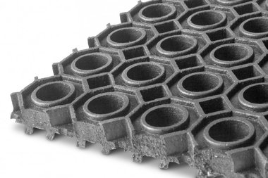 Epdm op rol 9.24m x 1000mm x 13mm ringmat zwart