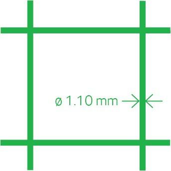 Volieregaas PVC 13x1.1 100 cm  x 10 m
