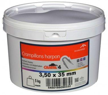 Harpoenkrammen Crapal4 4.0x4.0 mm 5 kg