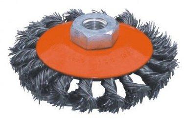 Platte staalborstel getordeerd diameter 125mm