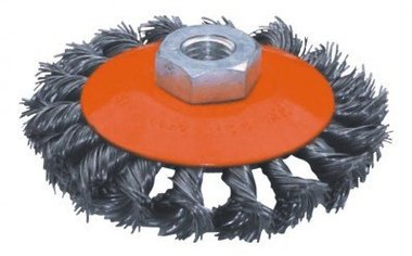 Platte staalborstel getordeerd diameter 115mm