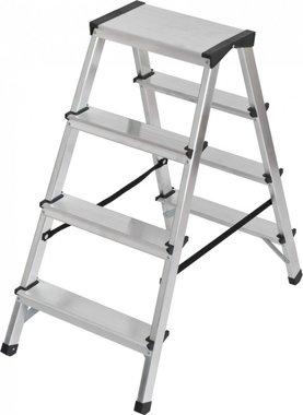Dubbele trapladder aluminium 2x4 sporten Hoogte bok ladder 0,82m