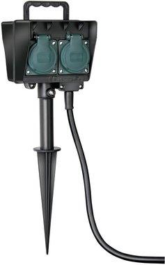 Tuincontactdoos met aardspies IP44 4-voudig 10m H07RN-F 3G1,5