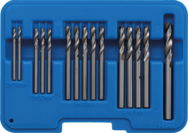Bgs Technic Popnagelboor-set HSS 2.4 - 6.4 mm 15-dlg