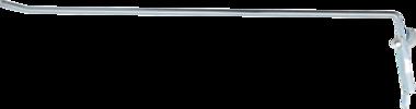 Bgs Technic Wandhaak enkel 300 x 4,8 mm met klapsluiting (zonder galg)