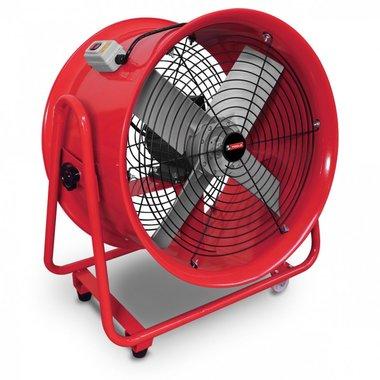 Mobiele ventilator op wielen 1100W 3x400V