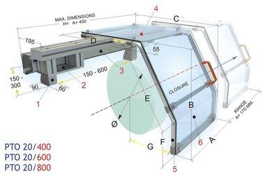 Glijdende beschermkap draaibanken 450x430mm