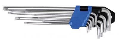 Bgs Technic Stiftsleutelset extra lang T-profiel (voor Torx) T10 - T50 9-delig
