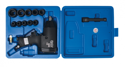 Bgs Technic Slagschroevenset voor luchtinslag 12,5 mm (1/2) 366 Nm 16-delig