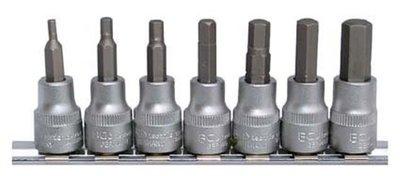 Bgs Technic Zeskant (inbus) bit set -mm 3/8 7-delig