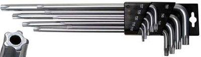Stiftsleutelset extra lang TS-profiel (voor Torx Plus) 9-delig