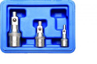 Bgs Technic Verlengstukset met magneethouder (1/4) / (3/8) / (1/2)