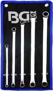 Ringsleutelset extra lang, vlak 8 - 19 mm 5-delig