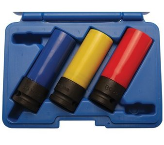 Bgs Technic Krachtdoppenset 1/2 kort voor alu-velg 17,19 en 21mm