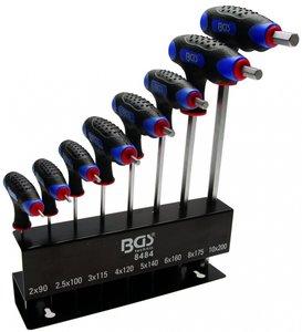 Bgs Technic Stiftsleutel Inbus, 6 kant, T-handvat 2-10 mm