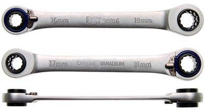 Bgs Technic Ratel sleutel, 4 in 1, 16x17 en 18x19 mm