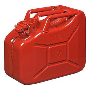 Jerrycan 10 Liter metaal rood UN- & TuV/GS-gekeurd